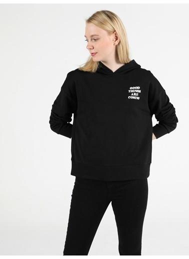 Colin's Kadın Sweatshirt Siyah